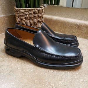 Cole Haan Santa Barbara Black Moc Toe Loafer Shoes